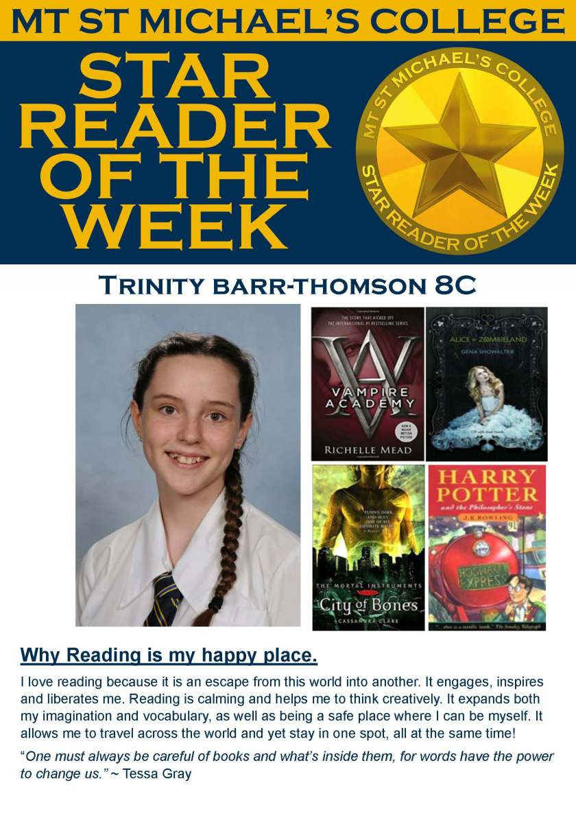 Star Reader of th Week - Trinity Barr-Thompson