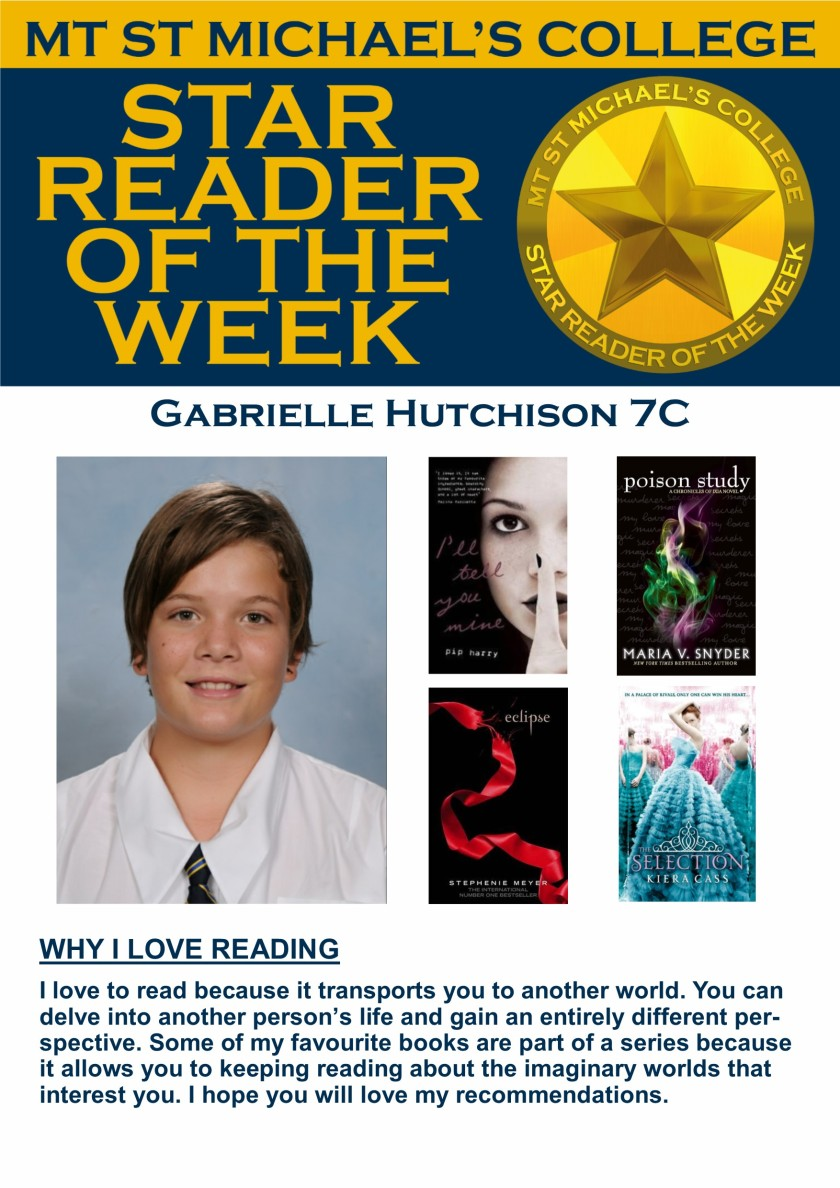 Star Reader of the Week - Gabrielle Hutchison
