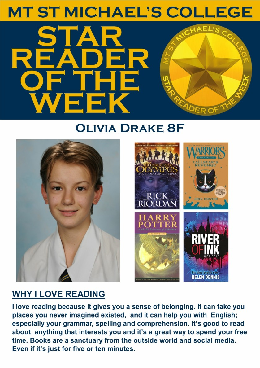 Star Reader of the Week - Olivia Drake