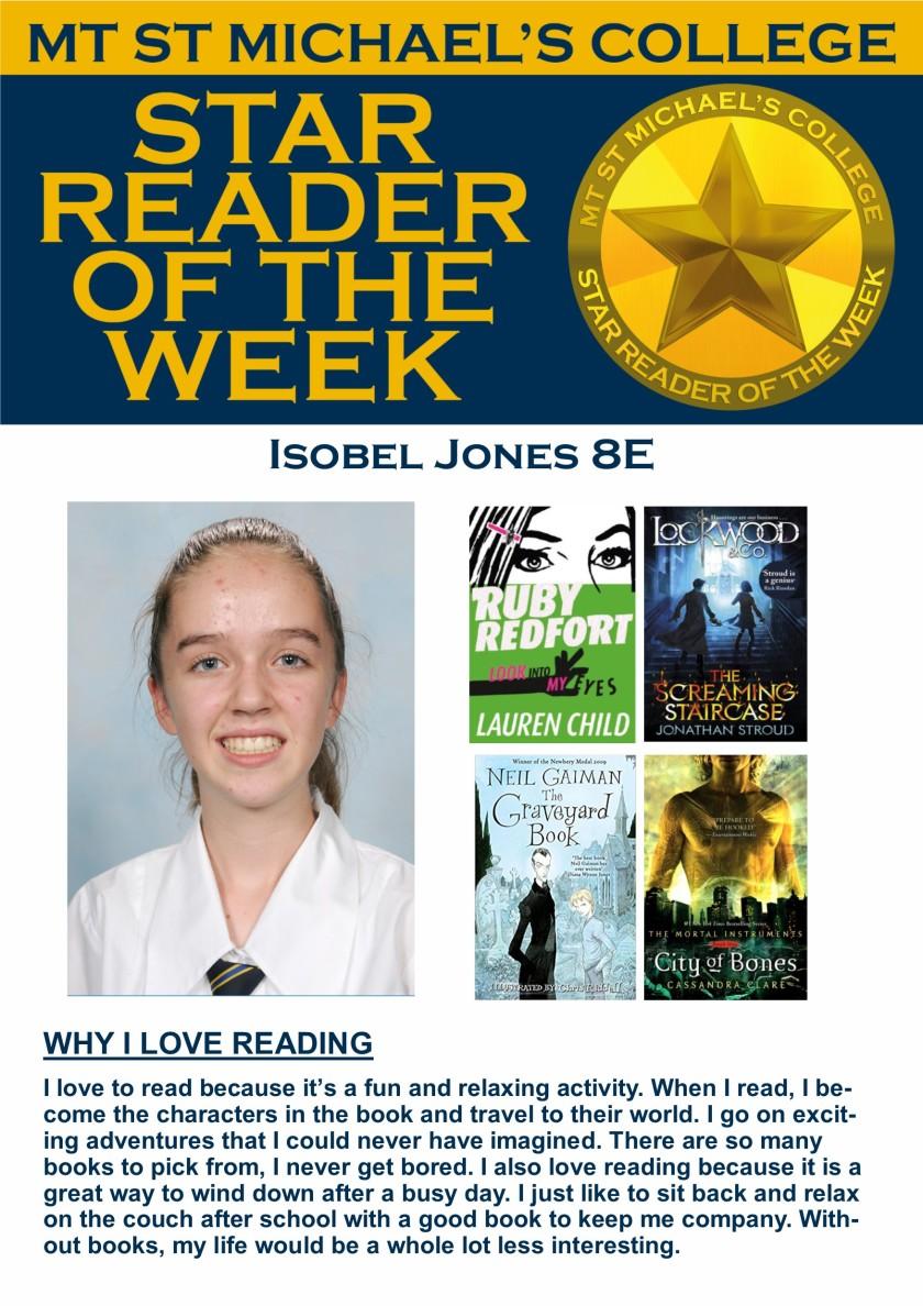 Star Reader of the Week - Isobel Jones
