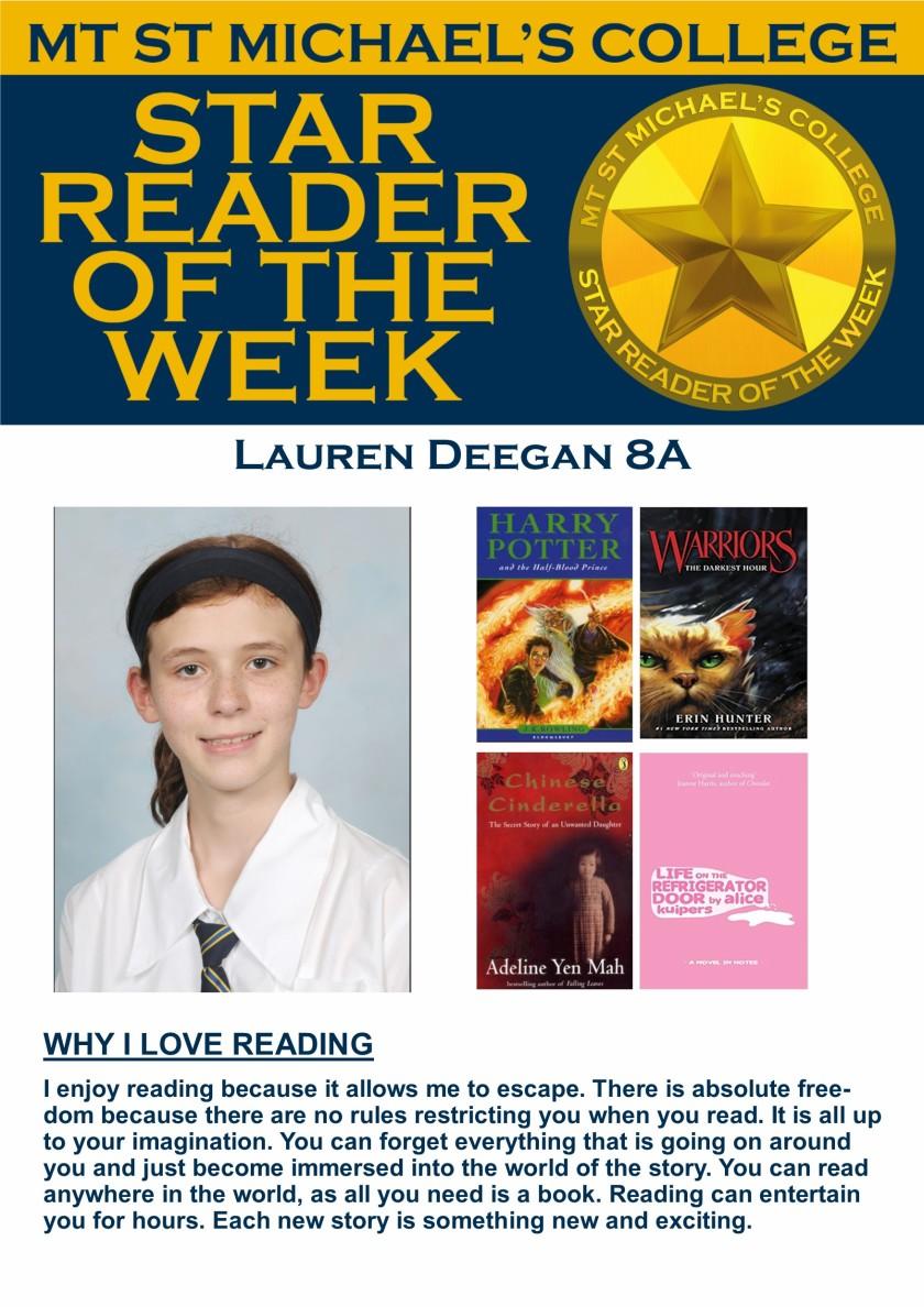 Star Reader of the Week - Lauren Deegan