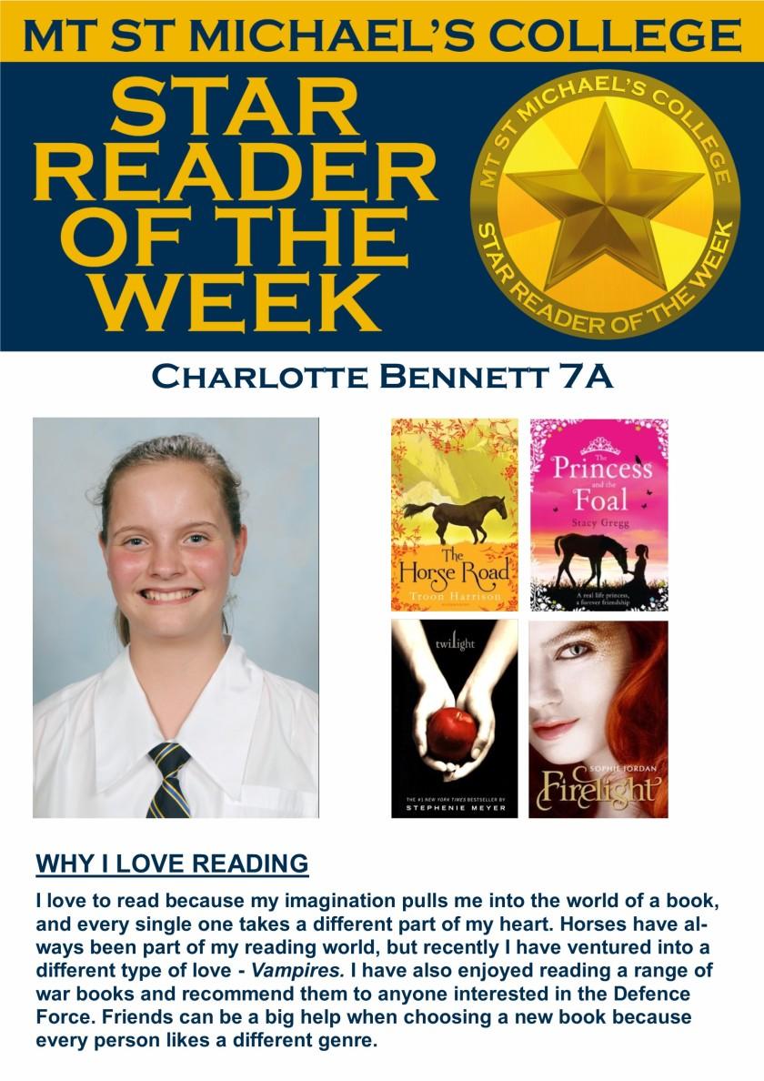 Star Reader of the Week - Charlotte Bennett