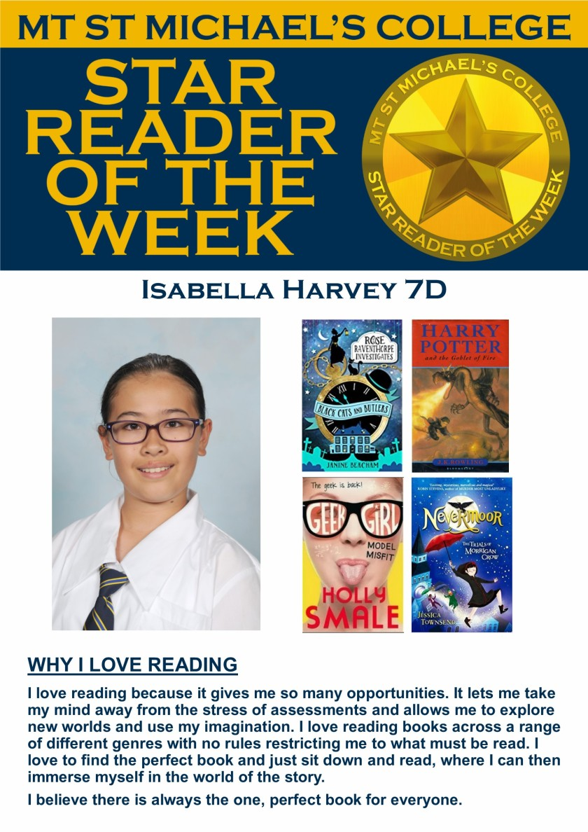 Star Reader of the Week - Isabella Harvey