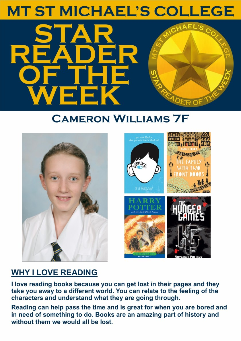 Star Reader of the Week - Cameron Williams