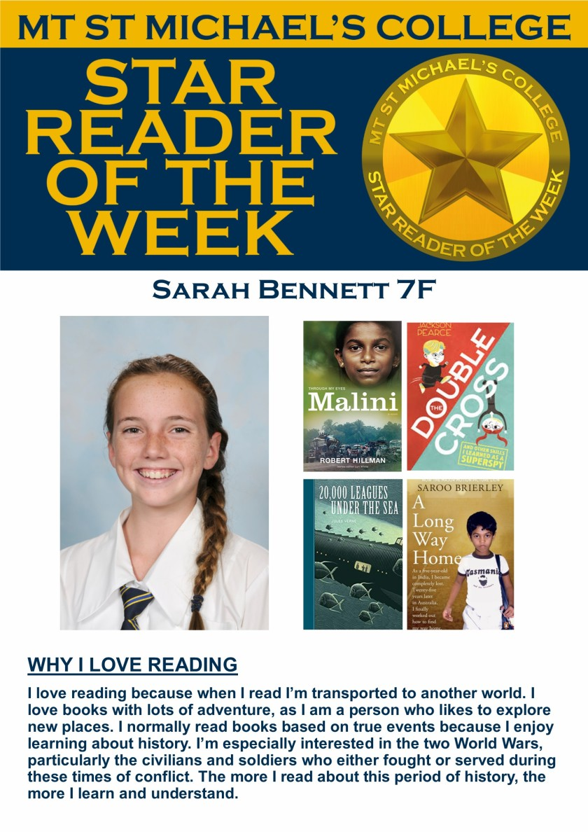 Star Reader of the Week - Sarah Bennett