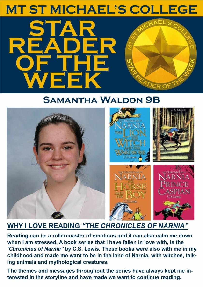 Star Reader of the Week - Samantha Waldon