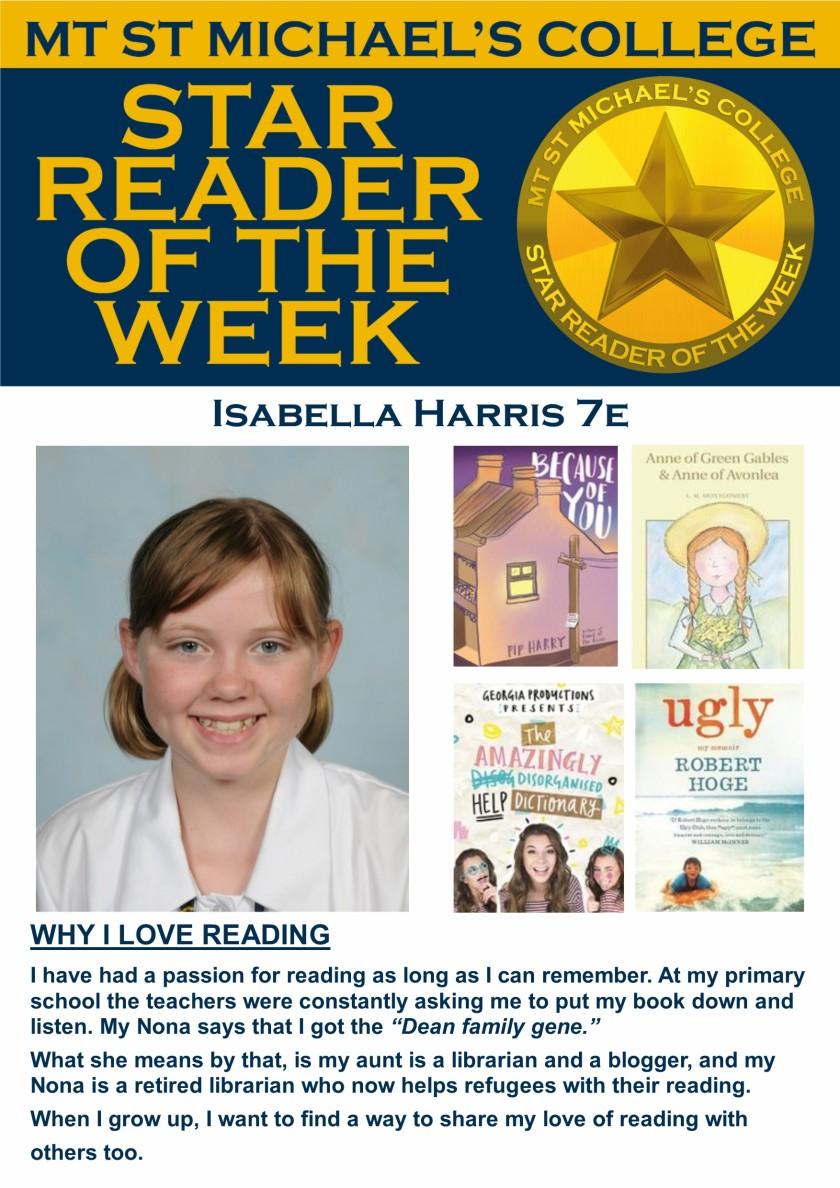 Star Reader of the Week - Isabella Harris