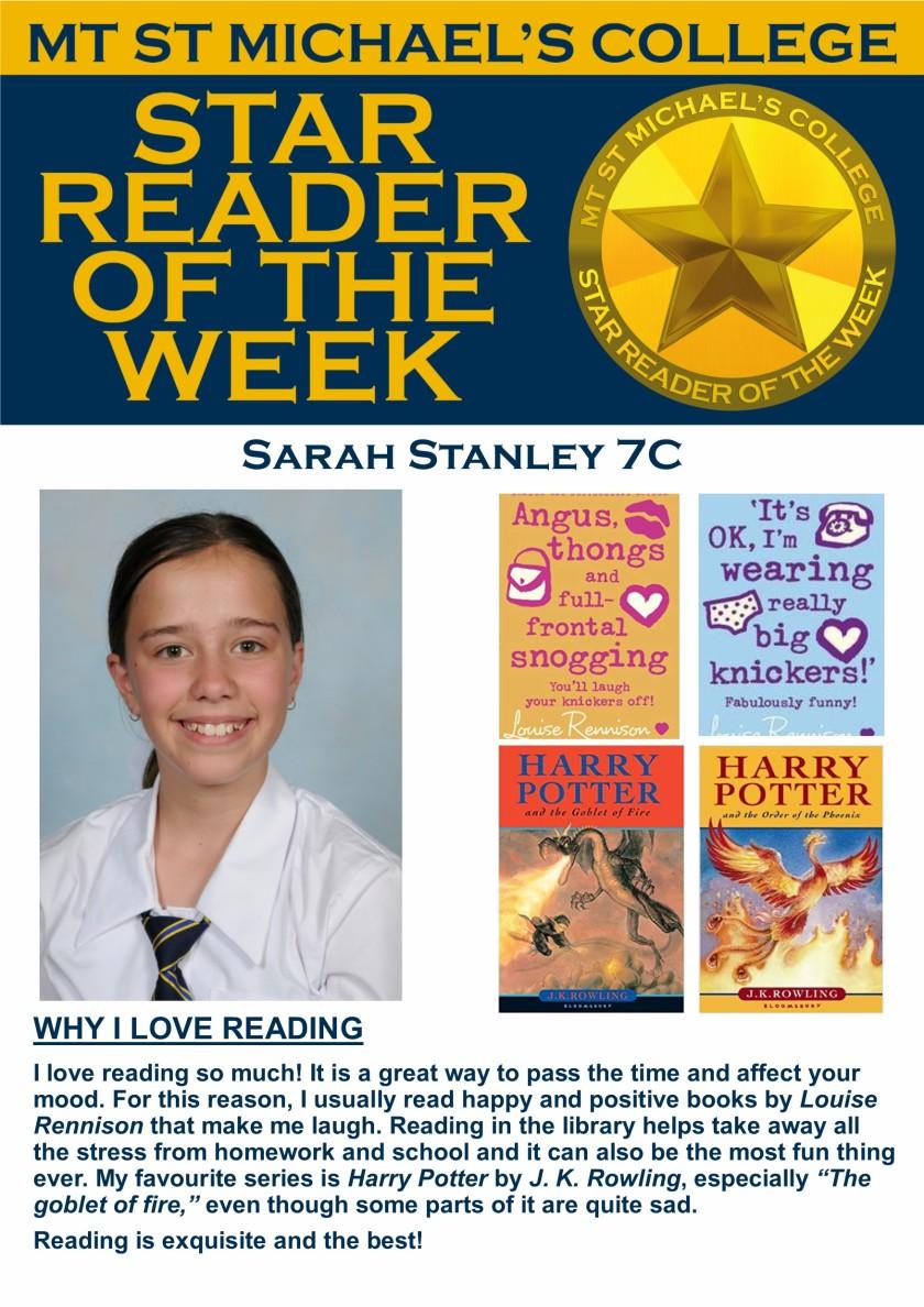 Star Reader of the Week - Sarah Stanley